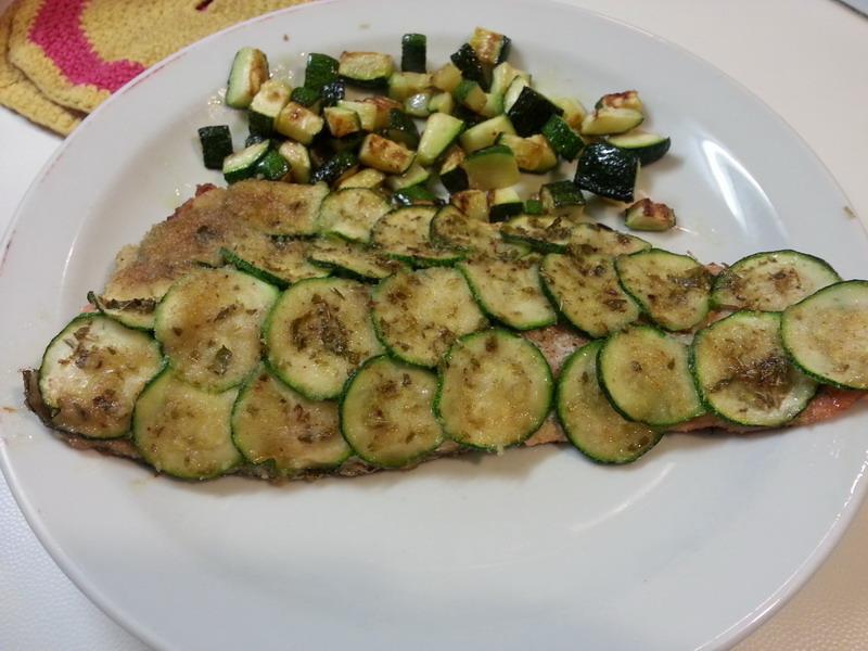 Il quaderno di Chiaretta: Trota salmonata in crosta di zucchine