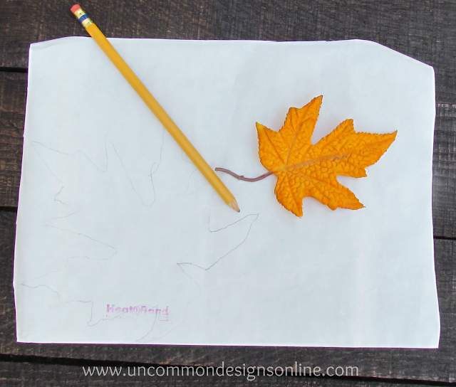 Fabric leaves tutorial