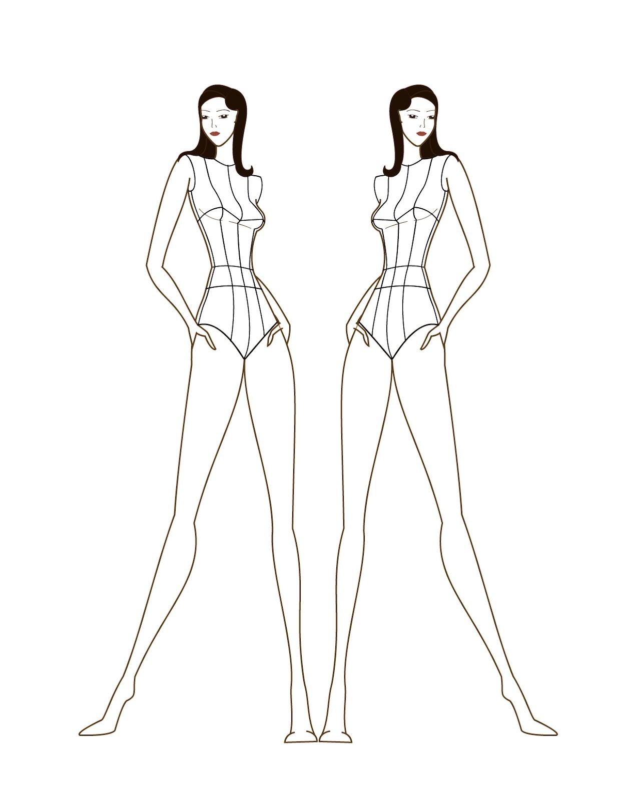 purchase cheap 26d7a 8b7fc Female fashion figure croqui