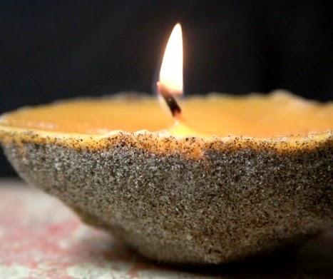 beach sand candle