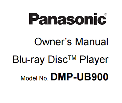 Panasonic DMP-UB900 Owners Manual