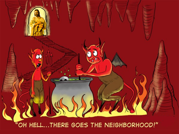 Funny Oh Hell, There Goes The Neighbourhood Cartoon Picture