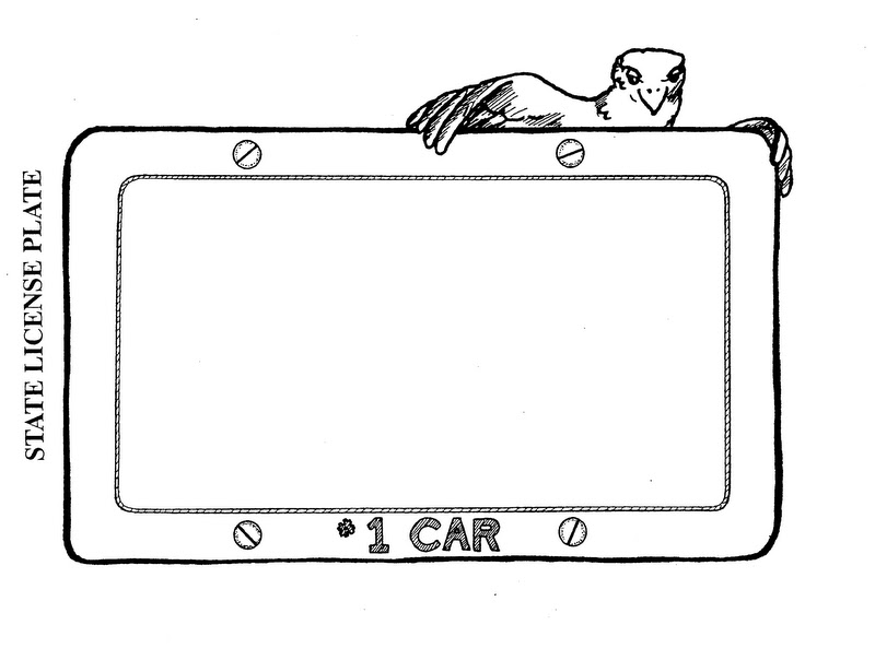 State License Plate Coloring Pages Coloring Pages