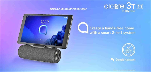 The Sound station variant is launched alongside the Alcatel  Alcatel 3T 10 tablet launched alongside MediaTek SoC