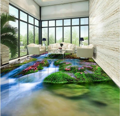 Best 3D epoxy flooring design images for living room 2019