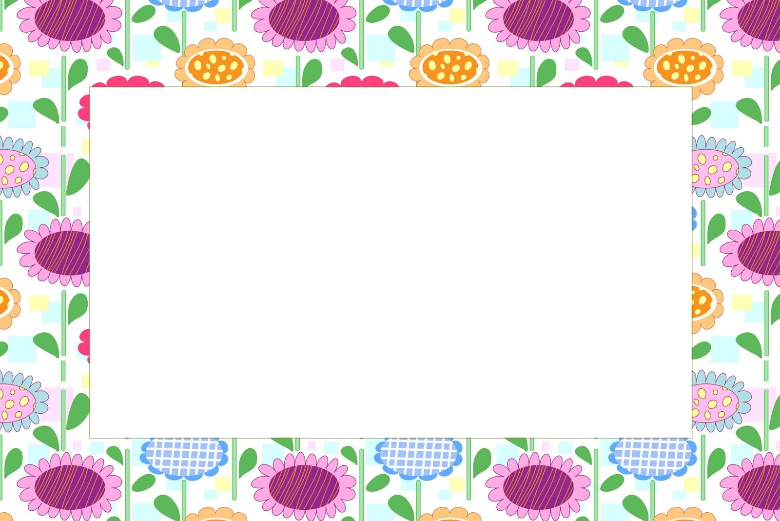 Invitaciones Con Fondo De Flores Para Imprimir Gratis