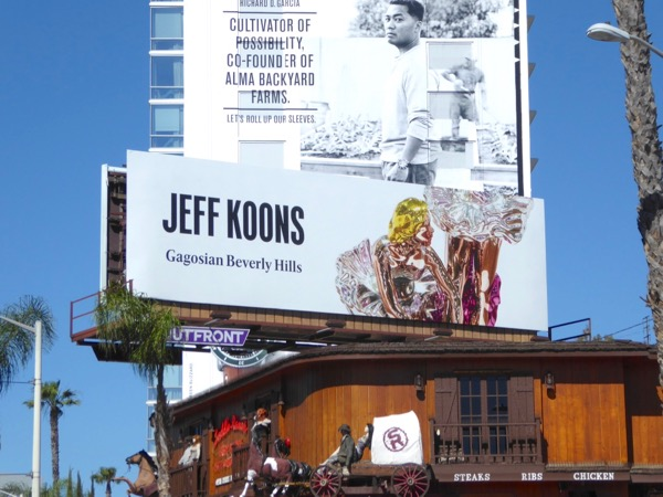 Jeff Koons Gagosian Beverly Hills billboard