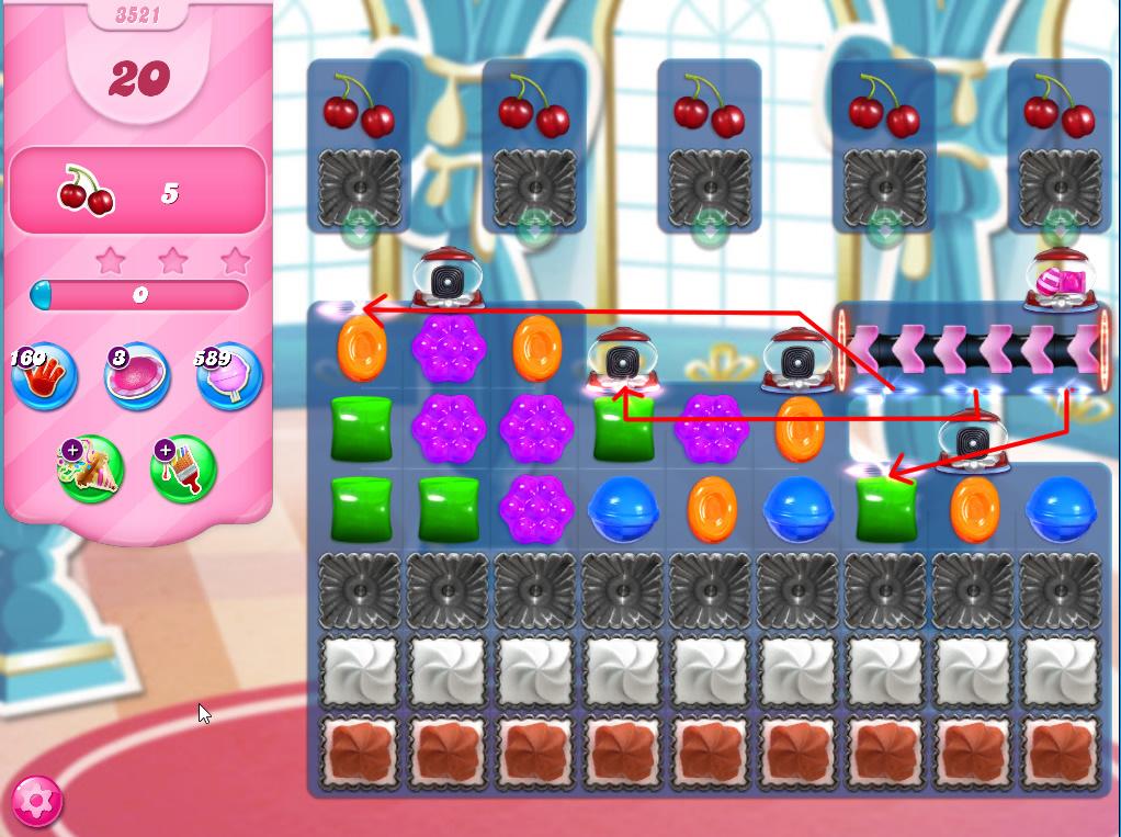 Candy Crush Saga level 3521