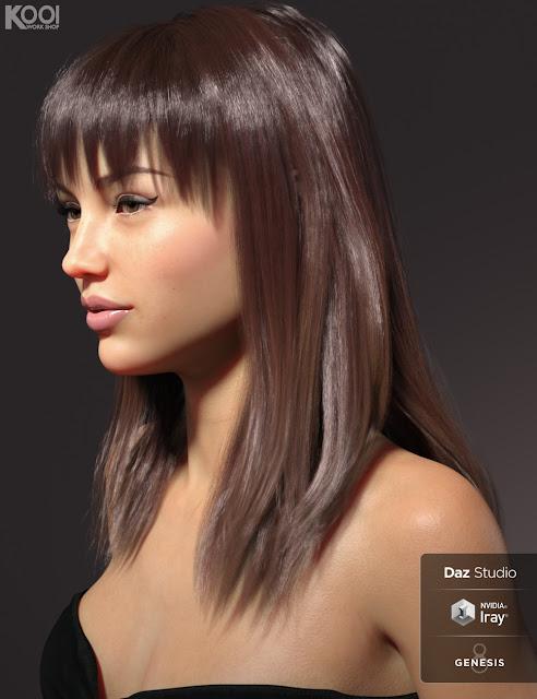 Alva Hair for Genesis 8 Female