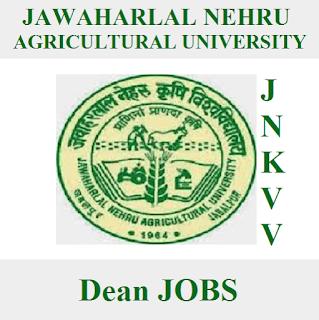 Jawaharlal Nehru Krishi Vishwa Vidyalaya, JNKVV, MP, Madhya Pradesh, Dean, Graduation, freejobalert, Sarkari Naukri, Latest Jobs, jknvv logo