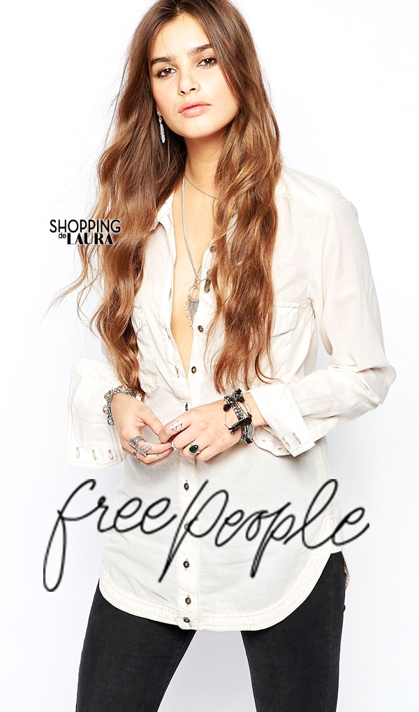 Chemise femme tendance : unie blanche FREE PEOPLE