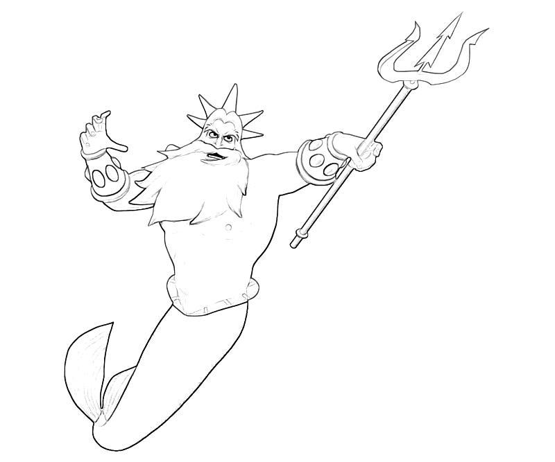 King Triton Skill   Star Sasa