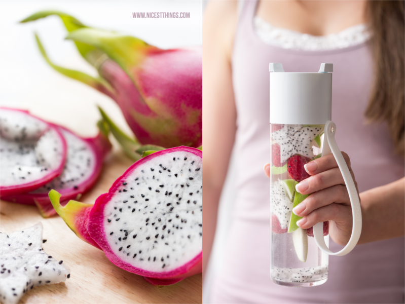 Schlichte Flasche für Fruit Infused Water in Weiß von Rosti Mepal