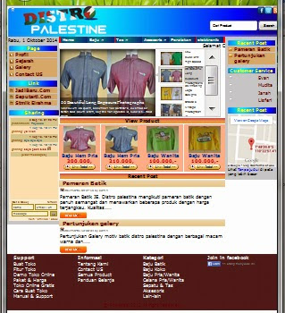 Download Gratis Source Code PHP Web Penjualan Baju / Distro (E-Commerce)