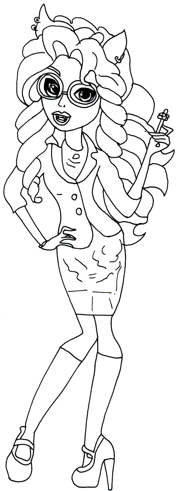 clawdia wolf coloring pages - photo#1