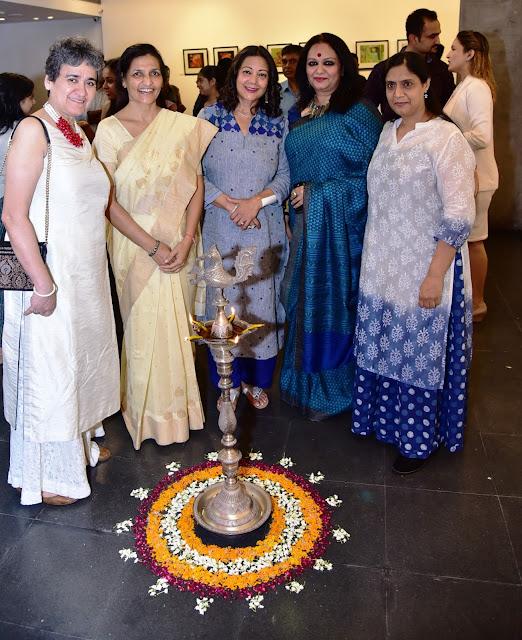Social Activist Ratan Kaul, Guru Maa Acharya Anita, Philanthropist Neelam Pratap Rudy, Cultural Visionary Prathibha Prahlad with Art Curator Seema Subbanna