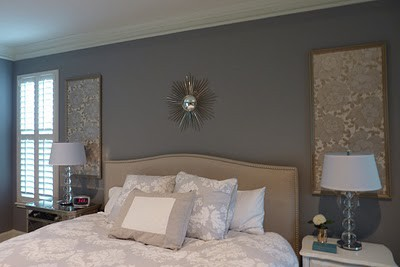Designs by Kimberly Francom and Associates: Framed Wallpaper as Inexpensive Wall Art