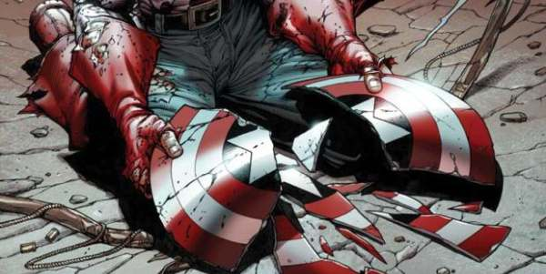 Captain America Broken Shield 600x300