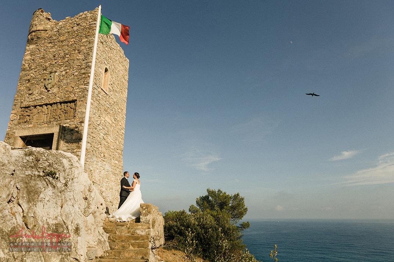 ritratto sposi torre dei Saraceni Finale Ligure