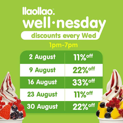 llaollao Malaysia Wednesday Discount Price Promo