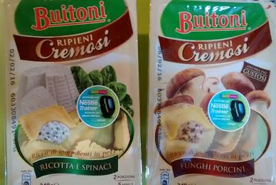 """Buitioni Ripieni Cremosi """"Ricotta e Spinaci"""" y """"Funghi Porcini"""""""