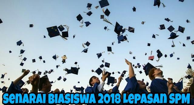 Senarai Biasiswa 2018 Lepasan SPM