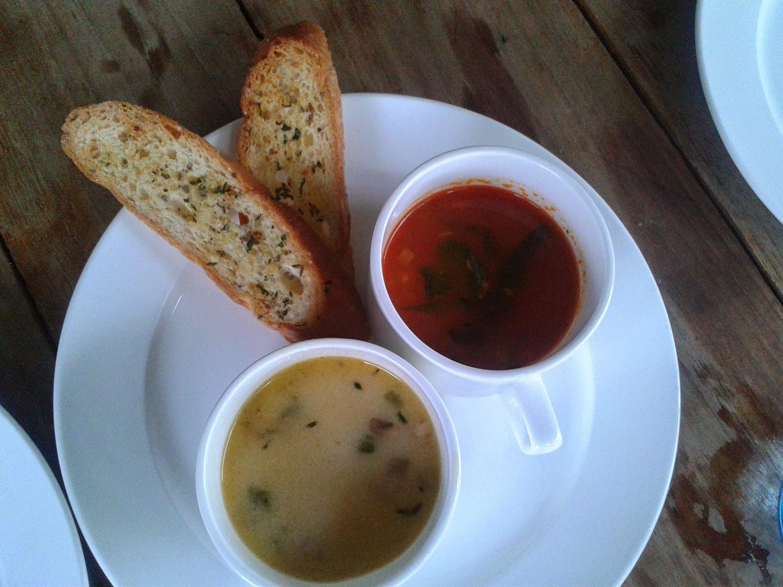 Foodaholix Olive Bistro Hyderabad monsoon menu soup sampler