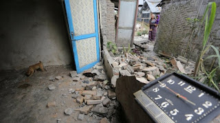 umbilikus Gempa yg barusaja berjalan nyatanya di Kota Binjai, Getarannya hingga ke Medan