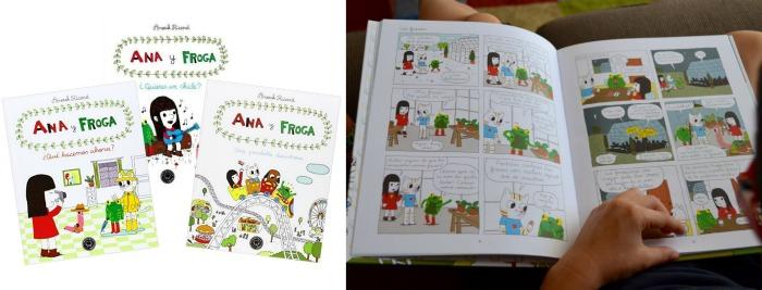 colección cómic niños Ana y froga