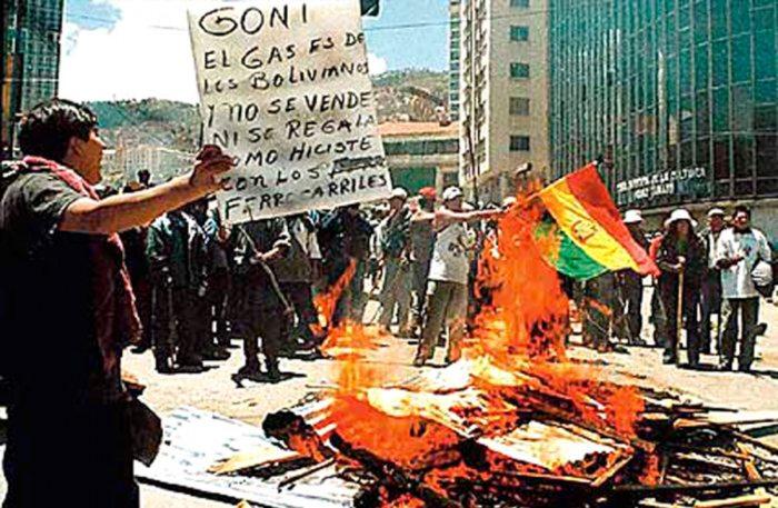 Entre el 7 y 15 de octubre de 2003 se produjo la llamada masacre por el gas / ARCHIVO WEB