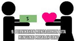Pernikahan Mengajarkan kita mengenai Masalah uang