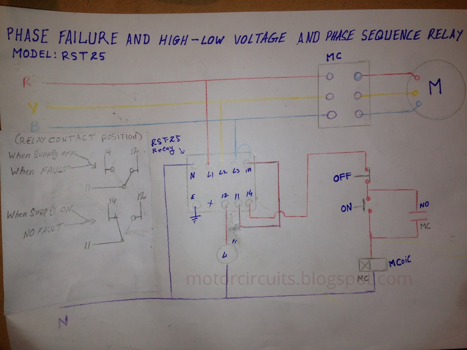 motor circuits phase failure relay for motor circuit protection
