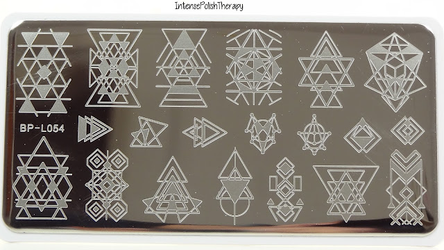 BORN PRETTY 12*6cm Rectangle Stamping Template Geometry Design Manicure Nail Art Image Plate BP-L054