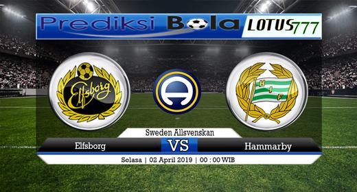 Prediksi Bola Elfsborg vs Hammarby 2 April 2019