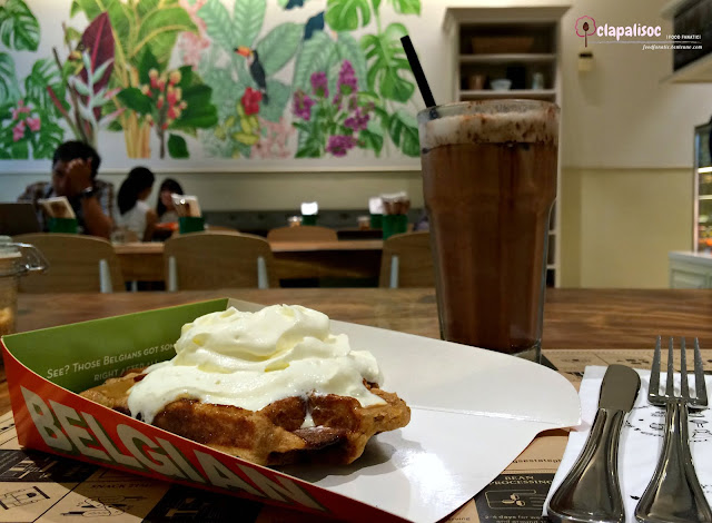 Waffle and Coffee from Toby's Estate PH