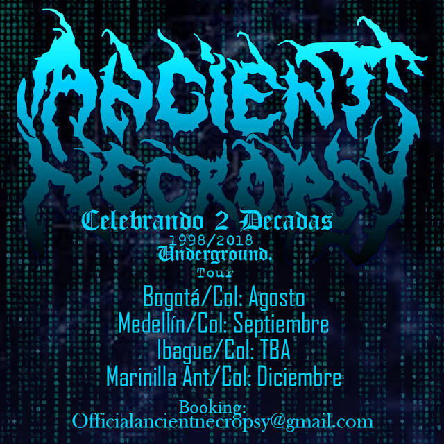 Metal, Metal Colombiano, Colombian Death Metal, Ancient Necropsy Live