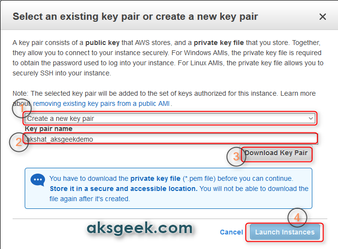 ec2 key pair