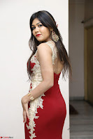 Rachana Smit in Red Deep neck Sleeveless Gown at Idem Deyyam music launch ~ Celebrities Exclusive Galleries 080.JPG