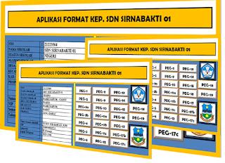 Aplikasi Administrasi Kepala Sekolah Dan Guru Kepegawaian Format Excel