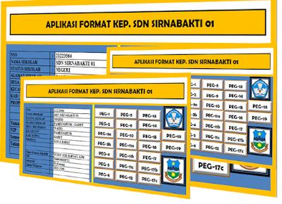 Aplikasi Administrasi Kepala Sekolah dan Kepegawaian/Guru Format Excel