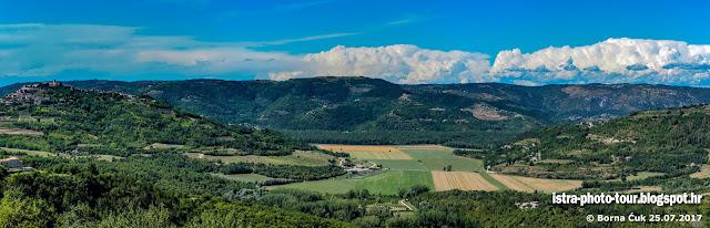Kaldir panorama prema Motovunu