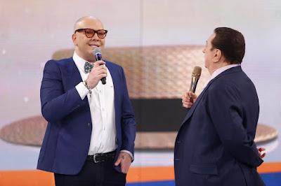 Felipeh Campos e Raul Gil (Crédito: Rodrigo Belentani /SBT)