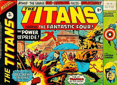 Marvel UK, The Titans #30, the Fantastic Four