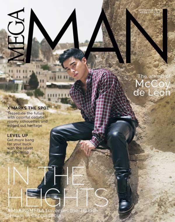 McCoy De Leon on the cover of Mega Man Magazine September 2017 issue