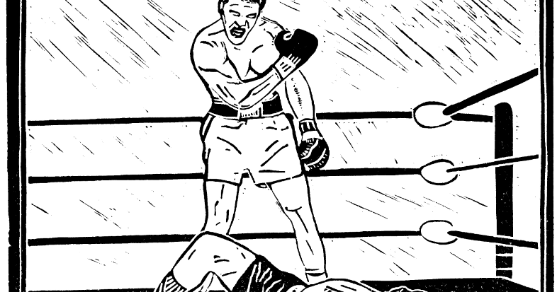 ali vs liston coloring pages - photo#32