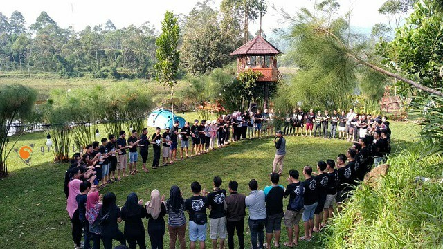 outbound situ cilrunca rafting paintball gravity pangalengan bandung