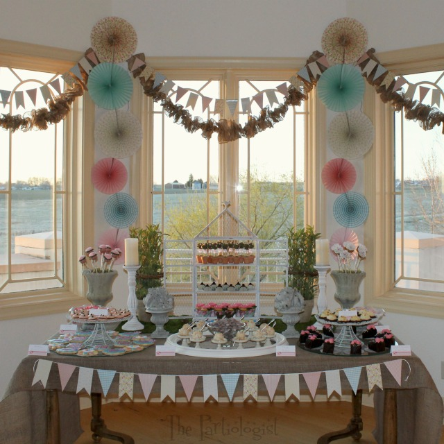 The Partiologist: Shabby Chic Dessert Table!