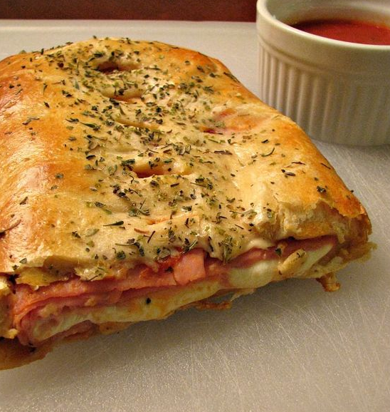 Ham and Cheese Crescent Roll Stromboli
