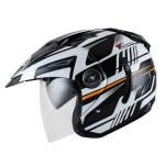 Helm INK T1 Seri 4 Hitam Orange Fluo