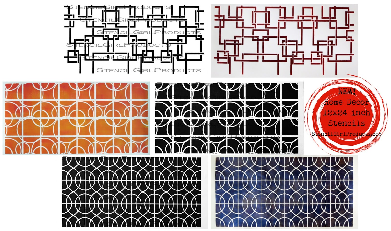 StencilGirl Talk: One Dozen Gorgeous NEW StencilGirl Home